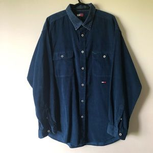 TOMMY HILFIGER CORDUROY & DENIM MENS BUTTON DOWN